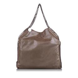 Stella McCartney Shaggy Deer Falabella Fold-Over Tote