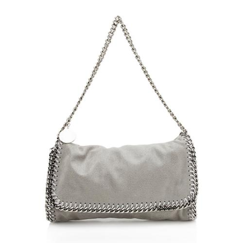Stella McCartney Shaggy Deer Falabella Fold Over Large Clutch