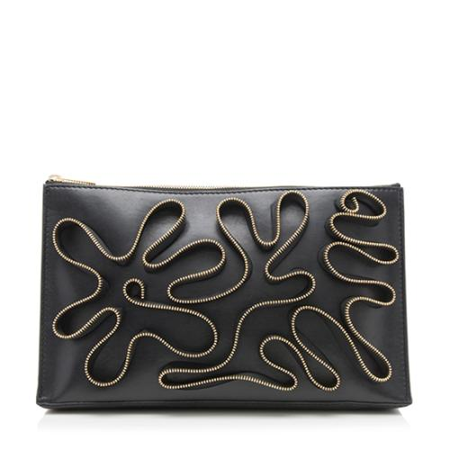 Stella McCartney Faux Nappa Zipper Cavendish Clutch