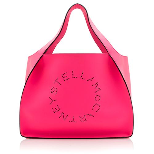 Stella McCartney Leather Alter East-West Perforated Tote