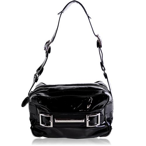 Stella McCartney Patent Lunchbox Shoulder Handbag