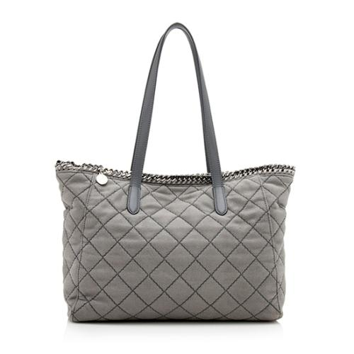 Stella McCartney Shaggy Deer Quilted East/West Tote