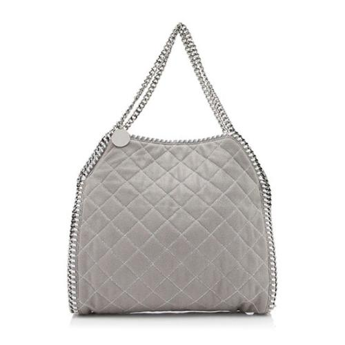 Stella McCartney Shaggy Deer Quilted Falabella Small Tote