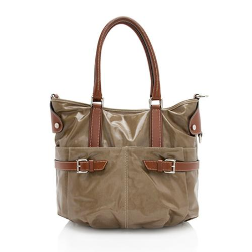 Tod's Coated Canvas G-Bucket Media Tote