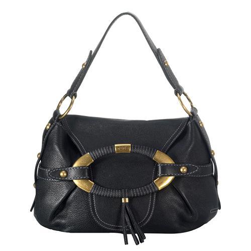 Tods Leather Boomerang East/West Shoulder Handbag