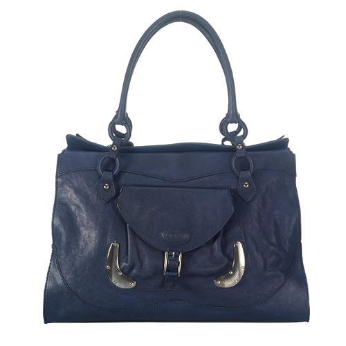 Tods Leather Chopper Satchel Handbag