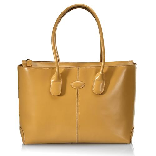 Tods Leather Classic D Bag Tote