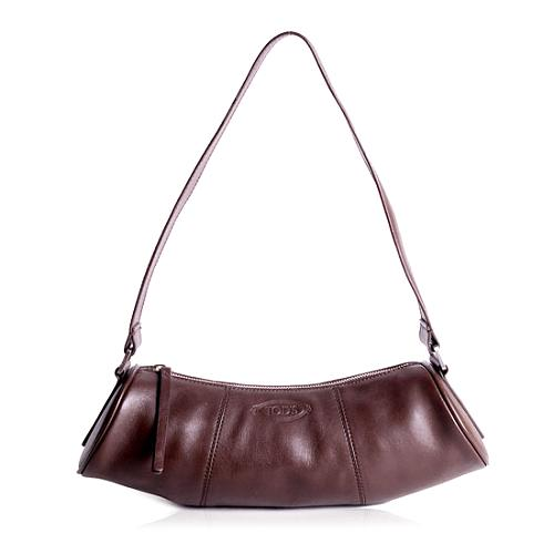 Tods Leather Hobo Handbag