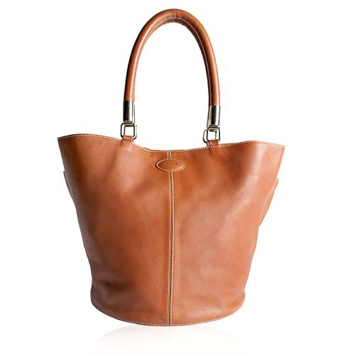 Tods Leather Large Tote