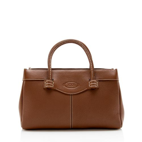 Tod's Leather Mocassino Small Tote