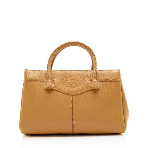 Tods Leather Mocassino Small Tote
