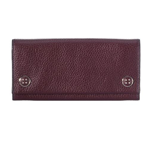 Tods Leather Snap Continental Wallet