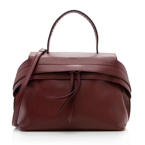Tod's Leather Wave Small Satchel
