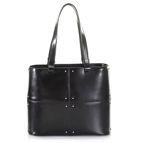 Tods Medium Patchwork Studded Tote