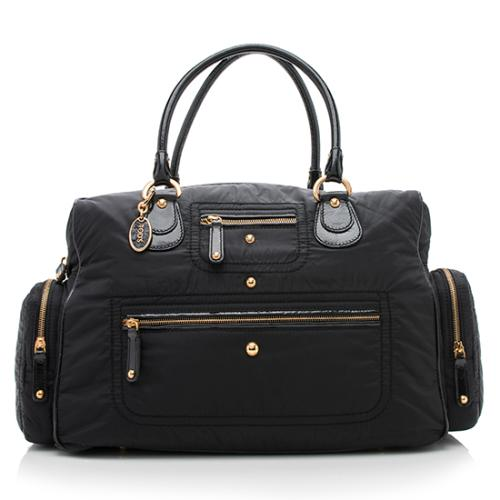 Tod's Nylon Patent Leather Pashmy Duffle