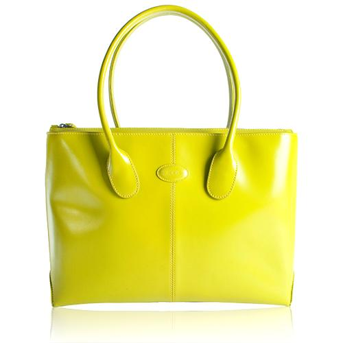 Tods Patent Leather Classic D-Bag Tote