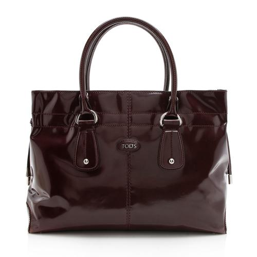 Tods Patent Leather D-Bag Tote