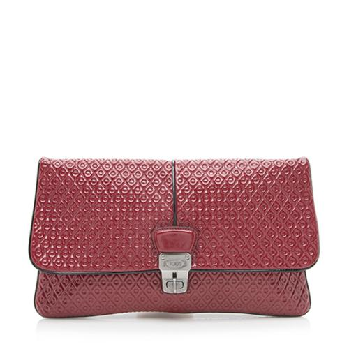 Tod's Patent Leather Signature Clutch