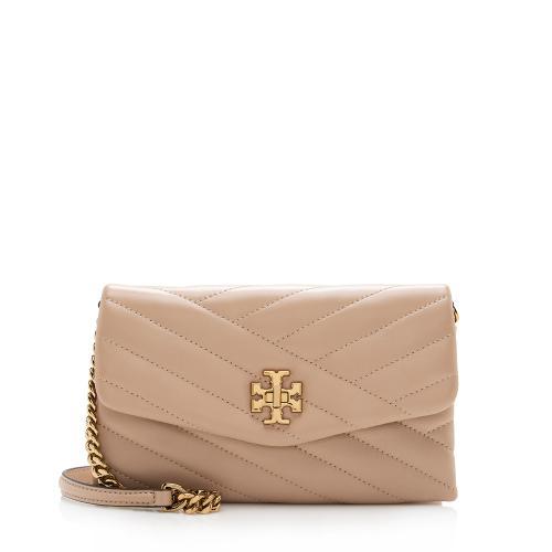 Tory Burch Chevron Leather Kira Wallet on Chain Bag