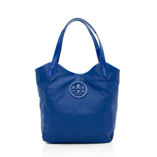 Tory Burch Dipped Canvas Stacked Logo NS Tote