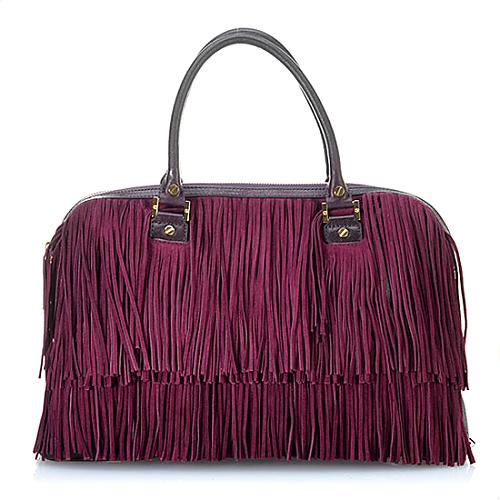 Tory Burch Fringe Satchel Handbag
