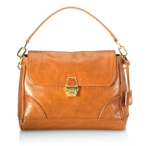 Tory Burch Gotham North/South Flap Satchel Handbag