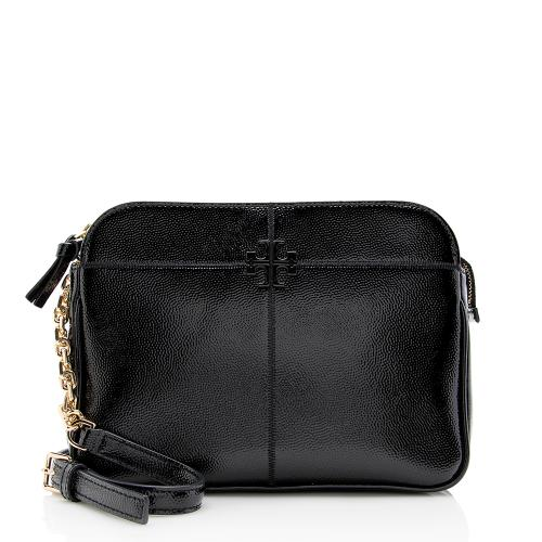 Tory Burch Grained Patent Leather Chain Crossbody Bag