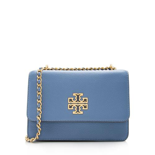 Tory Burch Leather Britten Small Shoulder Bag