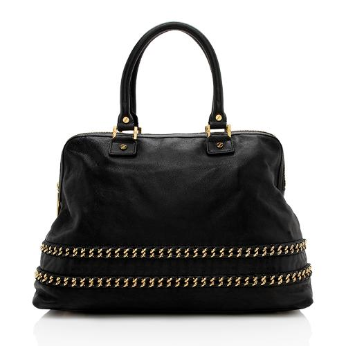 Tory Burch Leather Chain Detail Carson Large Satchel