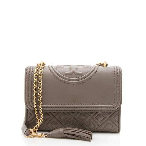 Tory Burch Leather Fleming Convertible Shoulder Bag