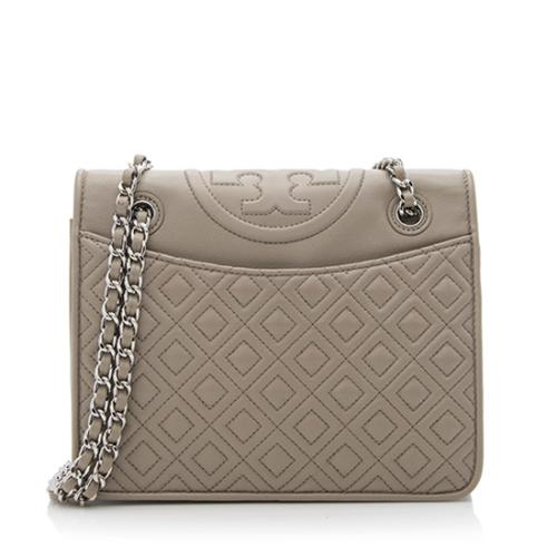 Tory Burch Leather Fleming Medium Shoulder Bag