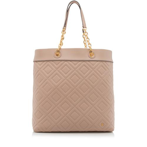 Tory Burch Leather Fleming Medium Tote