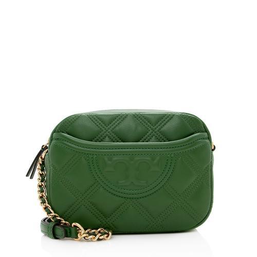 Tory Burch Leather Fleming Soft Camera Bag