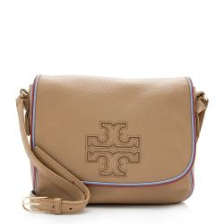 Tory Burch Leather Harper Stripe Messenger Bag