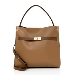 Tory Burch Leather Lee Radziwill Double Tote