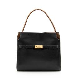 Tory Burch Leather Lee Radziwill Small Double Satchel
