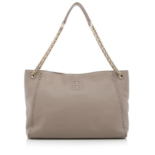 Tory Burch Leather Marion Large Tote