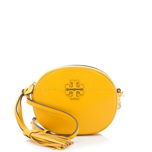Tory Burch Leather McGraw Round Crossbody Bag