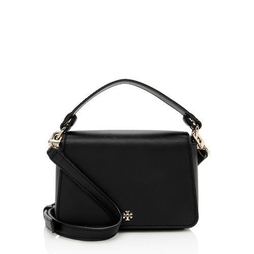 Tory Burch Leather Mini Top Handle Shoulder Bag