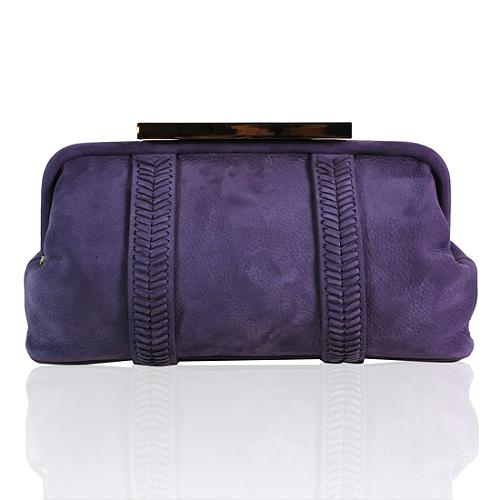 Tory Burch Leather Relaxed Frame Clutch