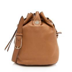 Tory Burch Leather Robinson Bucket Bag