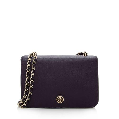 Tory Burch Leather Robinson Convertible Shoulder Bag