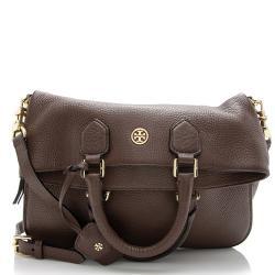 Tory Burch Leather Robinson Fold-Over Messenger Bag