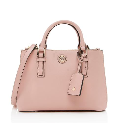 Tory Burch Leather Robinson Mico Double-Zip Tote