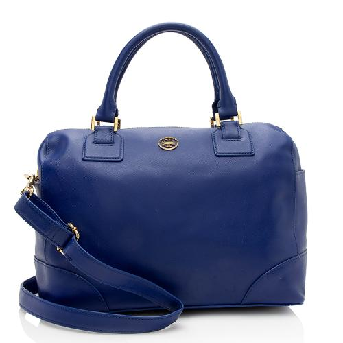 Tory Burch Leather Robinson Middy Satchel