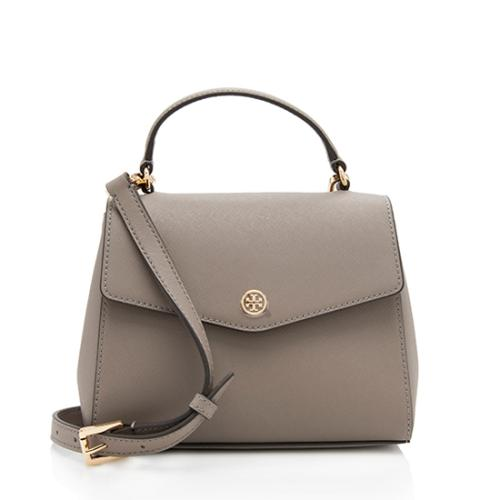 Tory Burch Leather Robinson Small Top Handle Bag