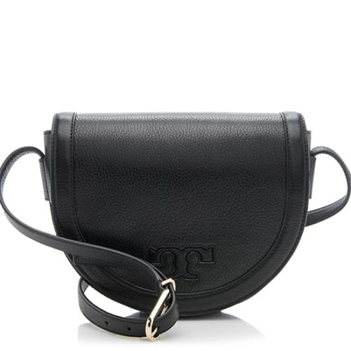 Tory Burch Leather Serif T Saddle Bag