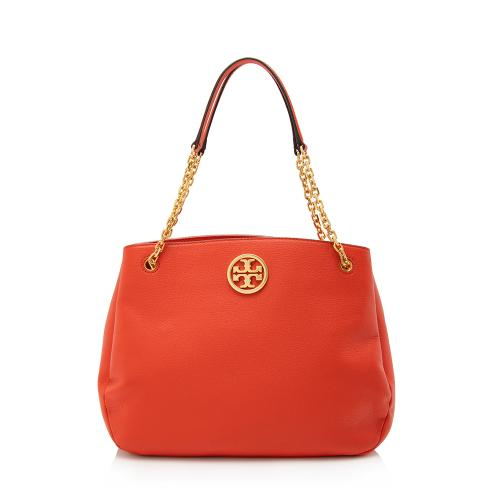 Tory Burch Leather Small Slouchy Tote