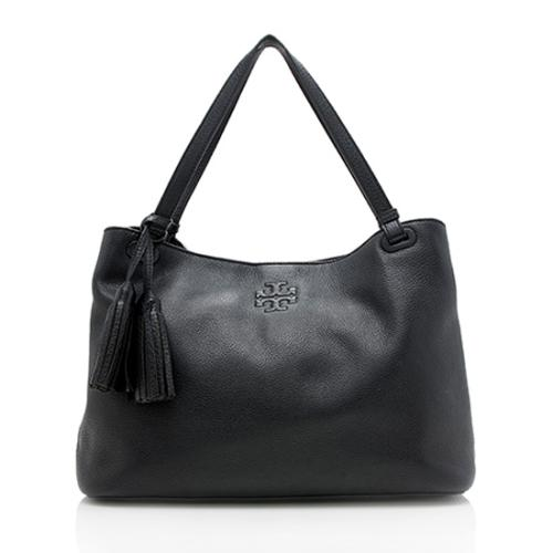 Tory Burch Leather Thea Center-Zip Tote