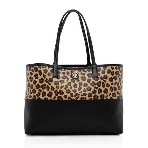 Tory Burch Leopard Kerrington Shopper Tote